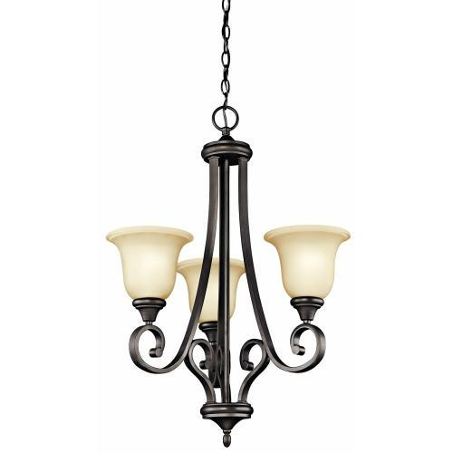Kichler Lighting 43155 Monroe - 3 Light Small Chandelier - with Traditional inspirations - 29.5 inches tall by 23 inches wide