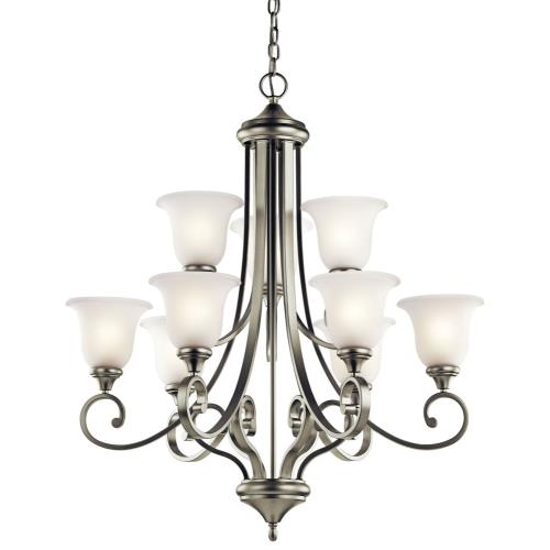 Kichler Lighting 43159NI Monroe - Nine Light Chandelier
