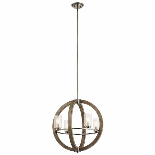 Kichler Lighting 43185 Grand Bank - 4 Light Small Chandelier - with Lodge/Country/Rustic inspirations - 21.5 inches tall by 20 inches wide