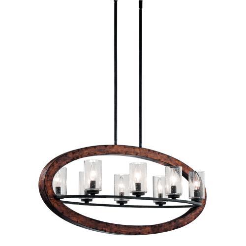 Kichler Lighting 43191AUB Grand Bank - Eight Light Linear Chandelier