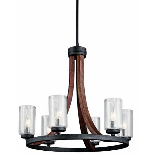 Kichler Lighting 43193 Grand Bank - 6 Light Medium Chandelier - with Lodge/Country/Rustic inspirations - 22.5 inches tall by 25 inches wide