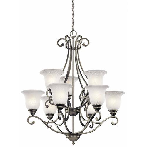 Kichler Lighting 43226 Camerena - 9 Light Chandelier - with Traditional inspirations - 34.5 inches tall by 30 inches wide
