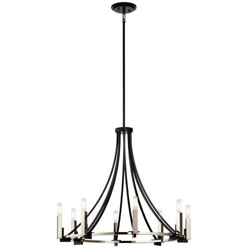 Kichler Lighting 43291BK Bensimone - Eight Light Large Chandelier