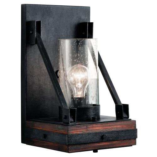 Kichler Lighting 43436AUB Colerne Lodge/Country/Rustic 1 Light Wall Sconce