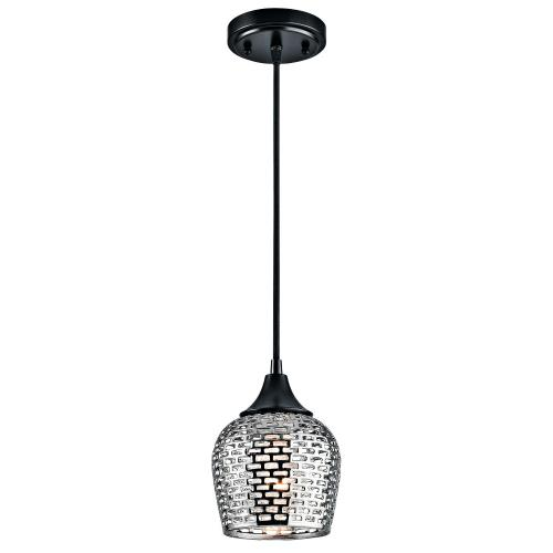 Kichler Lighting 43489BK Annata - 1 light Mini Pendant - with Transitional inspirations - 8.5 inches tall by 6.25 inches wide