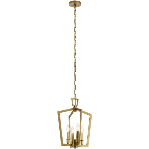Kichler Lighting 43498 Abbotswell - 4 Light Pendant - with Traditional inspirations - 19 inches tall by 14 inches wide
