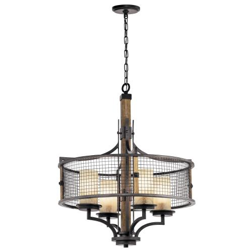 Kichler Lighting 43582AVI Ahrendale - 4 light Chandelier - with Lodge/Country/Rustic inspirations - 30 inches tall by 24 inches wide