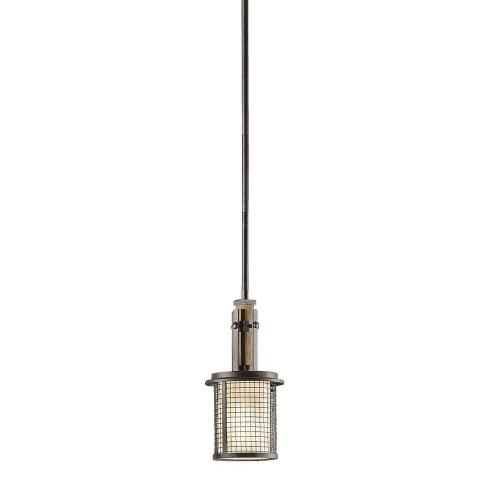 Kichler Lighting 43584AVI Ahrendale - 1 light Mini Pendant - with Lodge/Country/Rustic inspirations - 13 inches tall by 6 inches wide