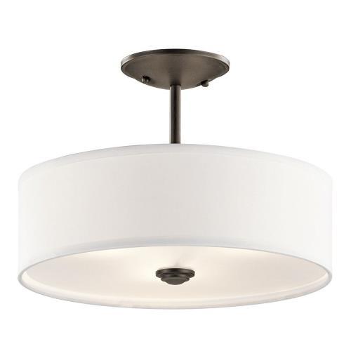 Kichler Lighting 43675 Shailene - 3 light Semi-Flush Mount - 14 inches wide