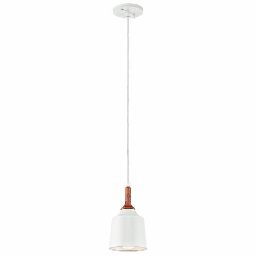 Kichler Lighting 43682 Danika - 1 light Mini Pendant - with Mid-Century/Retro inspirations - 9.25 inches tall by 5.25 inches wide