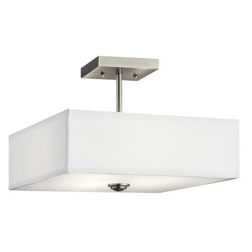 Kichler Lighting 43691 Shailene - 3 Light Semi-Flush Mount - 14 inches wide