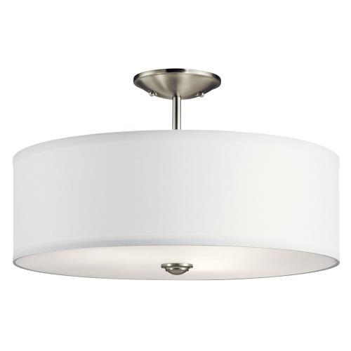 Kichler Lighting 43692 Shailene - 3 Light Semi-Flush Mount - 18 inches wide