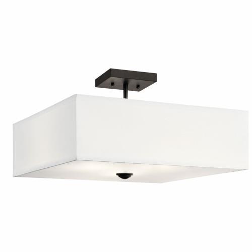 Kichler Lighting 43693 Shailene - 3 Light Semi-Flush Mount - 18 inches wide