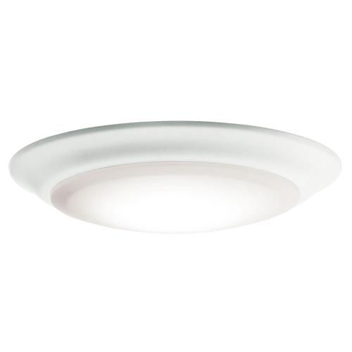 Kichler Lighting 43846WHLED30 7.5 Inch 15W 3000K 1 LED Flush Mount