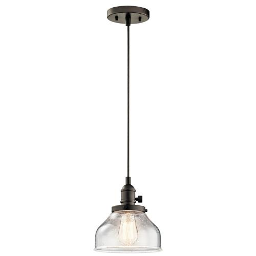 Kichler Lighting 43850 Avery - 1 light Mini Pendant - with Vintage Industrial inspirations - 8.5 inches tall by 8 inches wide