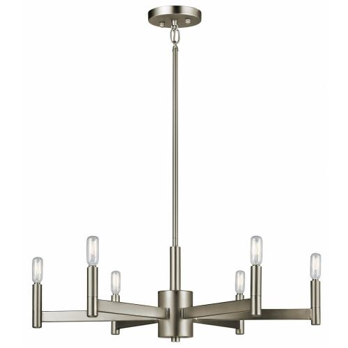 Kichler Lighting 43859 Erzo - 6 light Meidum Chandelier - with Soft Contemporary inspirations - 9.25 inches tall by 26 inches wide