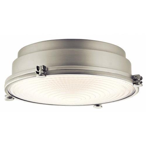 Kichler Lighting 43883NILEDR Hatteras Bay - 13.25 Inch 22W 1 LED Flush Mount