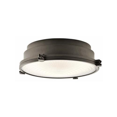 Kichler Lighting 43883OZLEDR Hatteras Bay - 13.25 Inch 22W 1 LED Flush Mount