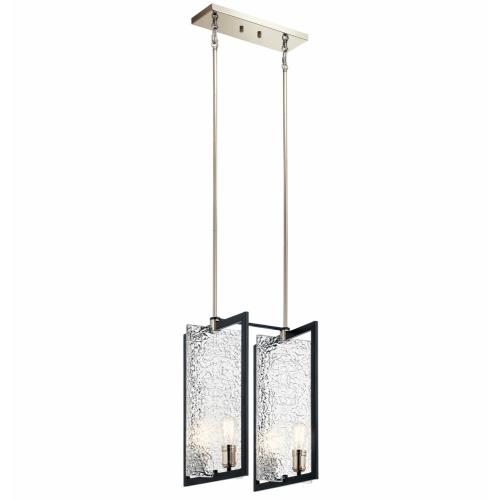 Kichler Lighting 43980BK Forge - 4 light Foyer Pendant - with Vintage Industrial inspirations - 22 inches tall by 16 inches wide