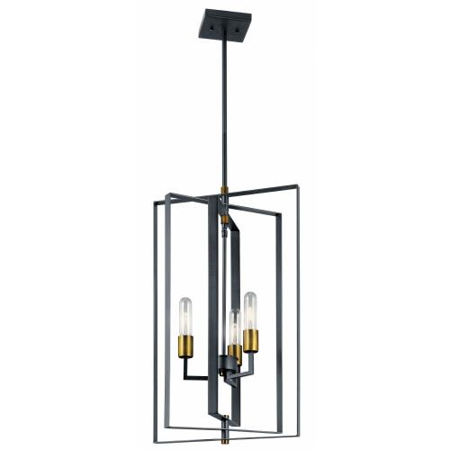 Kichler Lighting 43983BK Taubert - 3 light Foyer - 26.25 inches tall by 15 inches wide