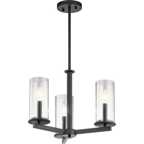 Kichler Lighting 43997 Crosby - Three Light Convertible Chandelier