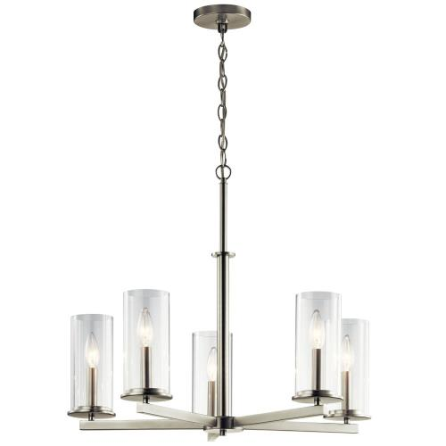 Kichler Lighting 43999 Crosby - 5 light Meidum Chandelier - with Contemporary inspirations - 22.25 inches tall by 26.25 inches wide