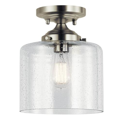 Kichler Lighting 44033 Winslow - 1 light Semi-Flush Mount - 10.5 inches tall by 8.5 inches wide