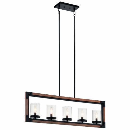 Kichler Lighting 44043AUB Marimount - Five Light Linear Chandelier