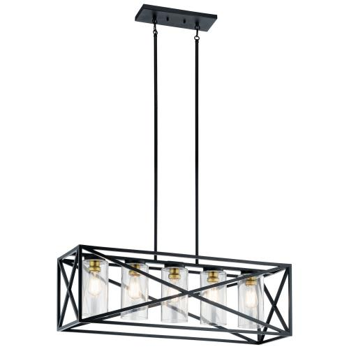 Kichler Lighting 44081 Moorgate - 5 light Linear Chandelier - with Lodge/Country/Rustic inspirations - 12.75 inches tall by 12 inches wide