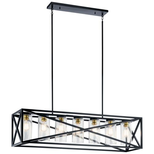 Kichler Lighting 44082 Moorgate - 7 light Linear Chandelier - with Lodge/Country/Rustic inspirations - 12.75 inches tall by 12 inches wide
