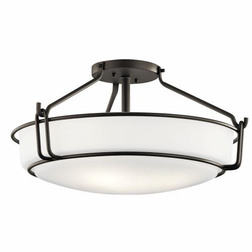 Kichler Lighting 44086 Alkire - 4 light Semi-Flush Mount - with Transitional inspirations - 11 inches tall by 22 inches wide