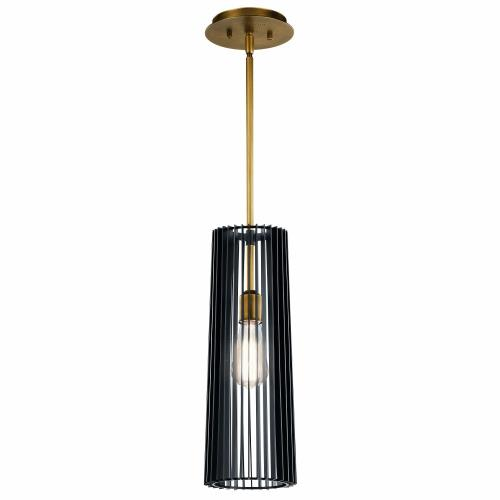 Kichler Lighting 44169BK Linara - 1 light Pendant - with Contemporary inspirations - 17.75 inches tall by 6 inches wide