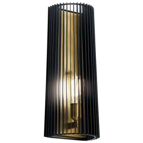 Kichler Lighting 44170BK Linara - 1 Light Wall Sconce - with Contemporary inspirations - 17 inches tall by 7.25 inches wide