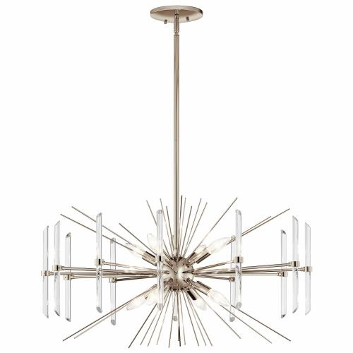 Kichler Lighting 44276PN Eris - 8 light Chandelier - with Contemporary inspirations - 16.75 inches tall by 30 inches wide