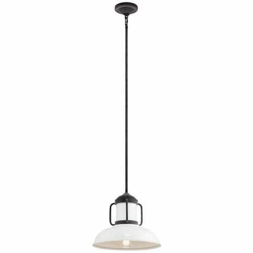 Kichler Lighting 44302WZC Jenson - 1 light Pendant - with Lodge/Country/Rustic inspirations - 11.75 inches tall by 14 inches wide