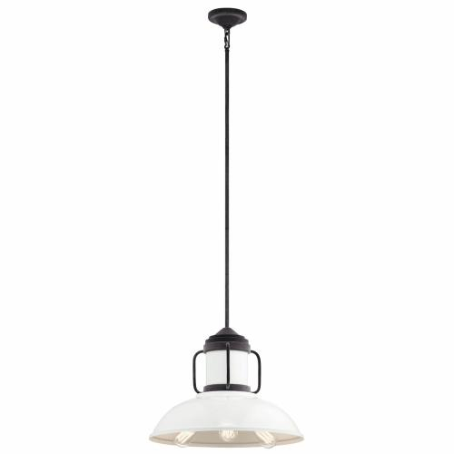 Kichler Lighting 44303WZC Jenson - 3 light Pendant - with Lodge/Country/Rustic inspirations - 14.75 inches tall by 19 inches wide