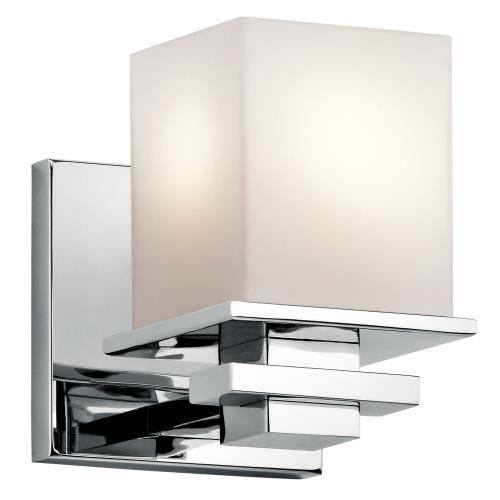 Kichler Lighting 45149CH Tully - Transitional 1 Light Wall Sconce - with Soft Contemporary inspirations - 6.5 inches tall by 5 inches wide