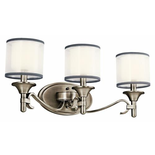 Kichler Lighting 45283 Lacey - 3 light Bath Vanity - with Transitional inspirations - 10 inches tall by 22 inches wide