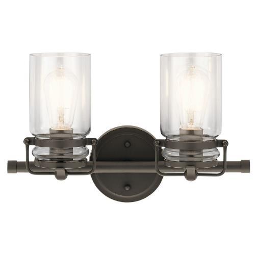 Kichler Lighting 45688 Brinley 2 Light  Bath Vanity Approved for Damp Locations