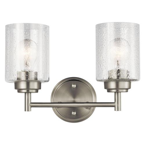 Kichler Lighting 45885NI Winslow 2 Light  Bath Vanity Approved for Damp Locations
