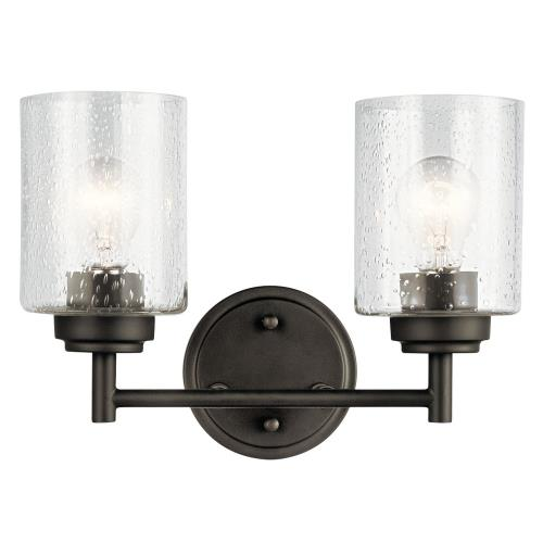 Kichler Lighting 45885OZ Winslow 2 Light  Bath Vanity Approved for Damp Locations