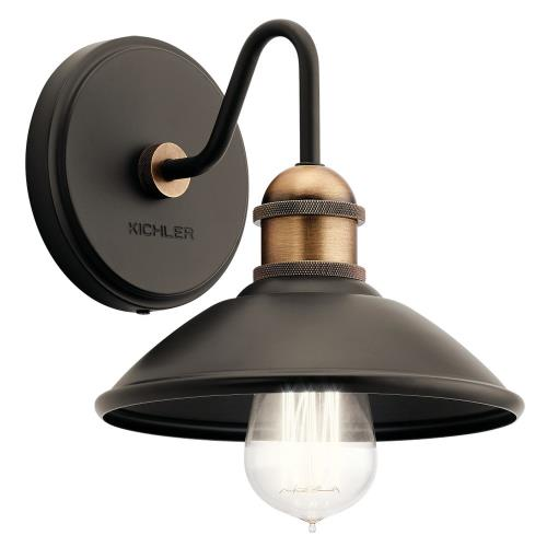 Kichler Lighting 45943 Clyde - 1 Light Wall Sconce - with Vintage Industrial inspirations - 7.25 inches tall by 7.5 inches wide