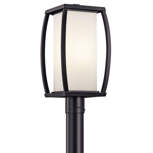 Kichler Lighting 49342AZ Bowen - 1 light Outdoor Post Mount - with Transitional inspirations - 18.5 inches tall by 9 inches wide