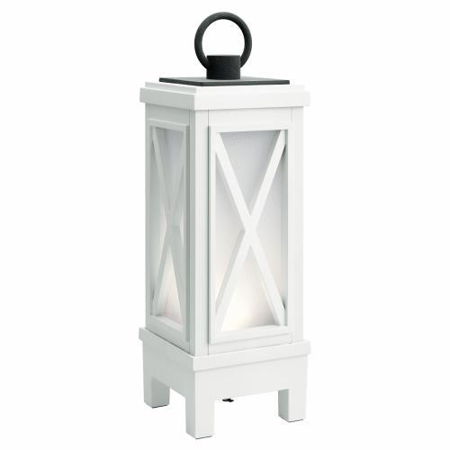 Kichler Lighting 49679WHRLED Montego - 19 Inch 7W 1 LED Outdoor Bluetooth Portable Lantern
