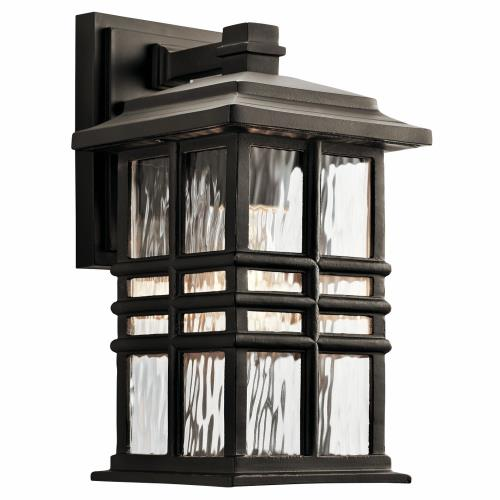 Kichler Lighting 49829 Beacon Square - 1 Light Outdoor Wall Sconce - with Arts and Crafts/Mission inspirations - 6.5 inches wide