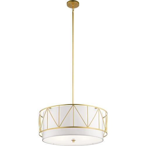 Kichler Lighting 52072 Birkleigh - Pendant 4 Light - with Transitional inspirations - 11.5 inches tall by 24 inches wide