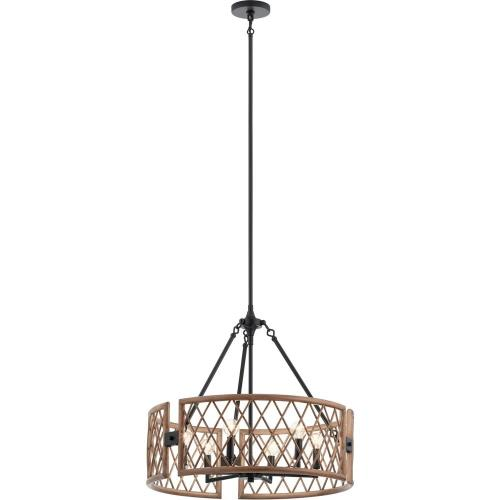 Kichler Lighting 52077 Oana - 6 light Round Chandelier - with Lodge/Country/Rustic inspirations - 22.25 inches tall by 24.75 inches wide