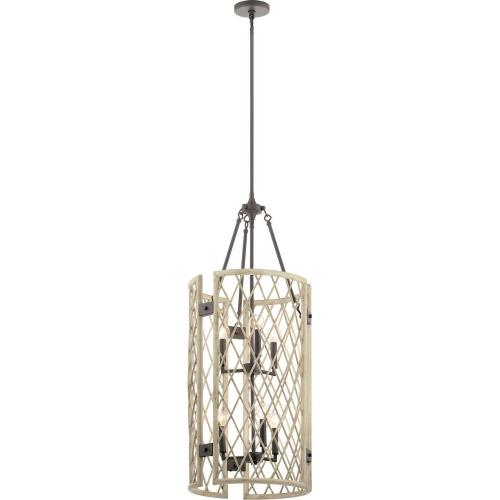 Kichler Lighting 52079 Oana - 6 light Foyer Chandelier - with Lodge/Country/Rustic inspirations - 40.75 inches tall by 15.75 inches wide