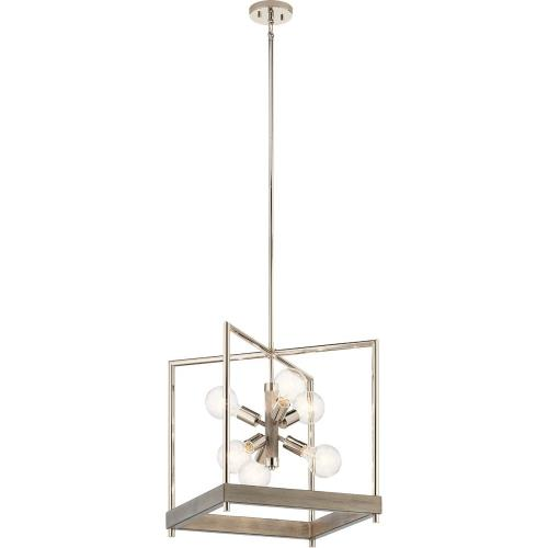 Kichler Lighting 52092 Tanis - 6 light Foyer Pendant - 21 inches tall by 18 inches wide