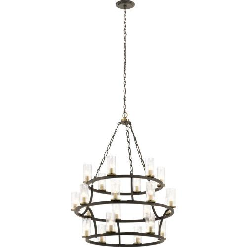 Kichler Lighting 52110 Mathias - Twenty-1 light 3-Tier Chandelier - with Mid-Century/Retro inspirations - 41.5 inches tall by 31.5 inches wide